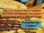 The Case about Unfair Competition and Trade Infringement PPT