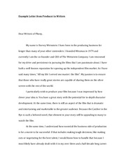 Producer Letter to Writers 2