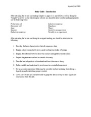 Study Guide - Chapter 1 Introduction