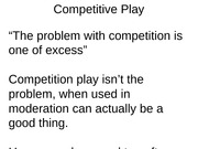 Competitive Play dusty carroll
