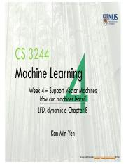 Lect4 Support Vector Machines