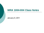 wra 1004 February_9_Notes_Jargon