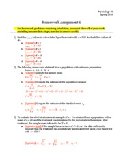 Homework 06 - Answers and Points