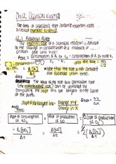 Chemical Kinetics notes