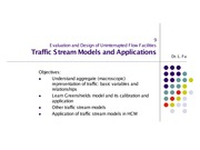 Traffic Stream Models
