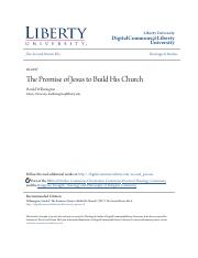 The Promise of Jesus to Build His Church.pdf