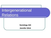 Intergenerational Relations notes slides2010
