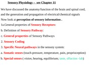 4125 Sensory Physiology 2010WebCT