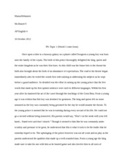personal statement topic one uc roughdraft