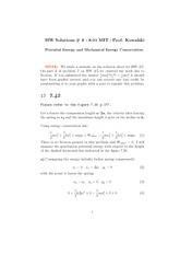 Physics 8.01 Pset 6 Solutions