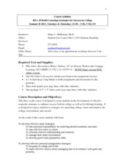 REA 2930.602 SummerB 2013 Course Syllabus