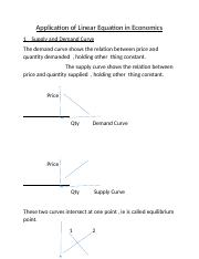 Application of Linear Equation in Economics.docx
