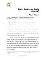 Kivel, P. (2006). Social service or social change