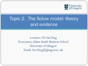 Solow Model_Theory and Evidence Lecture Slides