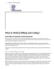 What Is Medical Billing and Coding  - Frequently Asked Questions.html