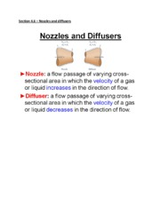 Chapter 4 Section 4.6  Nozzles Diffusers  WEL notes