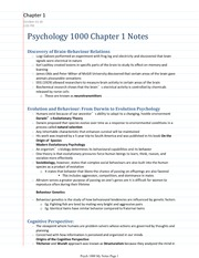 Psych 1000 Notes