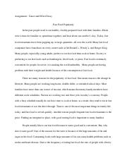 speech the food industry and childhood obesity persuasive speech  2 pages cause and effect essay