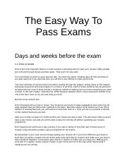 The Easy Way to Pass Exams.doc