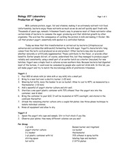 lab report on yogurt production Yeast fermentation lab report  this can be applied in many areas, such as baking or beer production, as both involve the fermentation of yeast as with all.