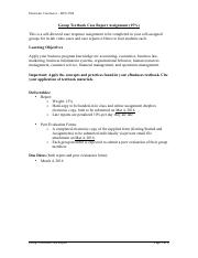 BUS 2500 W16 eCom - Group Textbook Case Report - assignment instructions(1).pdf