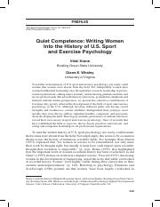 exercise science--women writing in exercise psy