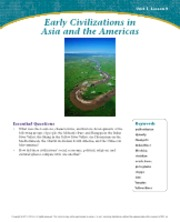 Early Civilizations in Asia and the Americas