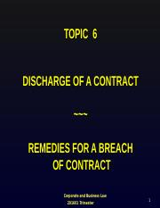 CBL201601_Topic_6_Discharge_of_a_Contract_and_Remedies.ppt