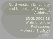 Northwestern University and Unionizing