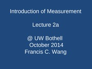 lecture 2a Introduction of Measurement