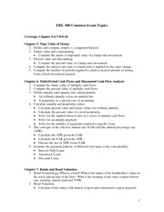 FRL 300 Common Exam Topics