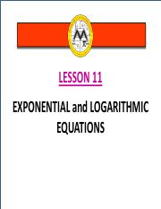 Math12-1_Lesson 11_Exponential and Logarithmic Equations