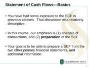Statement of Cash Flows - Basic