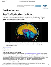 Top Ten Myths About the Brain