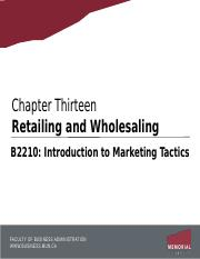 Chapter 13 - Retailing and Wholesaling.pptx