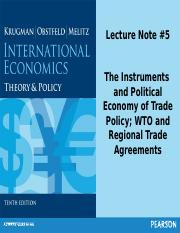 Econ 231 #5 trade policy and Political Economy of Trade Policy Part A post.ppt