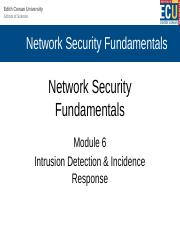 Module 6 Lecture - Intrusion Detection and Incident Response.pptx