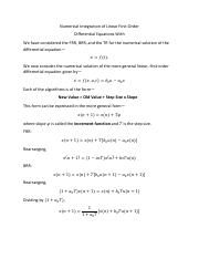 Numerical Integration of Linear First Order Differential Equations.pdf