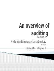 Overivew of auditing Chapter 1 .pptx