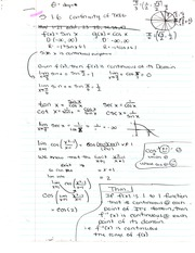 Chapter 1.6 Notes and Homework - Continuity of Trig