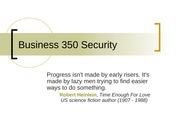 Business 350 Security