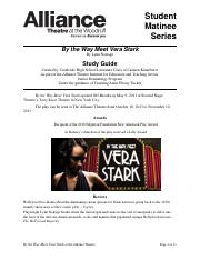 FY14 By The Way Meet Vera Stark Study Guide