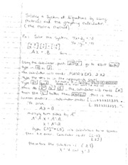 Matrix Method Notes
