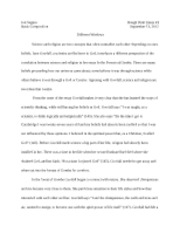 Basic Comp. Essay 1 RD                                             Rough Draft Essay