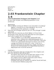 2 03 frankenstein chapter 1 4 jessica berishaj buckner english 12b rh coursehero com