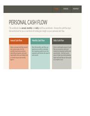 Simple personal cash flow statement1