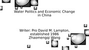 Water Politics and Economic Change in China