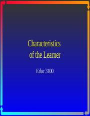 Characteristics of the Learner.ppt