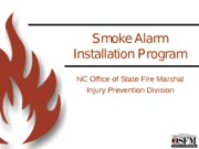 Smoke Alarm Grants powerpoint