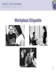 Workplace Etiquette Slides